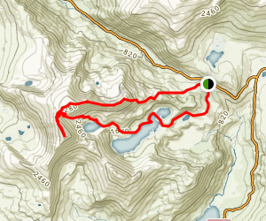 Snowden Via Miner's Track and Crib Goch Map