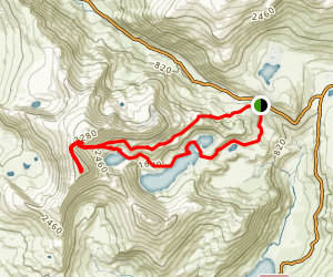 Snowdon Via Miner's Track and Pyg Track Map
