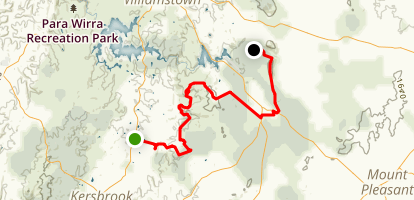 Heysen Trail: Mewett Road to Mount Crawford Map