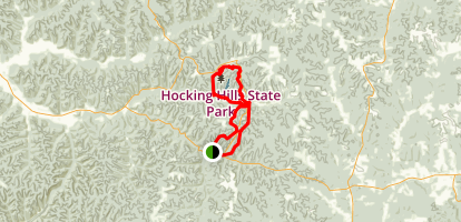 Ash Cave, Cedar Falls and Old Man Caves Loop Map