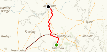 Heysen Trail: Tanunda to Kapunda Map