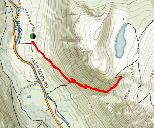 Ben Nevis Mountain Path - Short Track Map