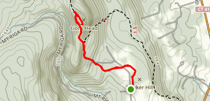 Lion's Head Peak Trail Map