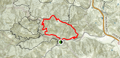 Bald Peaks Trail to Serpentine Loop Map
