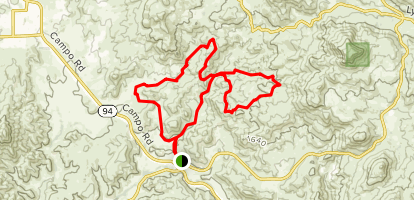 Hollenbeck Canyon Extended Loop Map