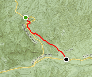 Mount Charleston Downhill Map