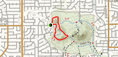 Trail 308 Short Loop from N125 St Map