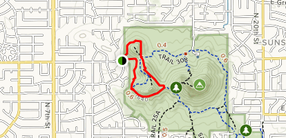 Trail 308 Short Loop from N.12th St & Coral Gables Map