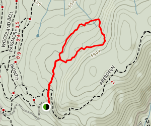 Snowshoeing Sovereign Lake Map