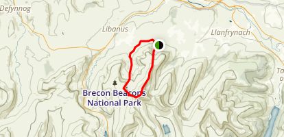 Corn Du and Pen y Fan Loop Map