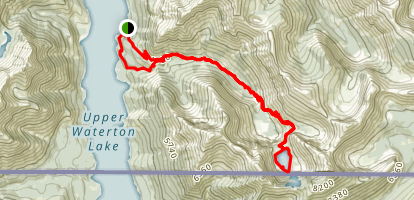 Crypt Lake Trail Loop Map