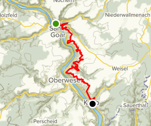 Rheinsteig: Sankt Goarshausen to Kaub Map