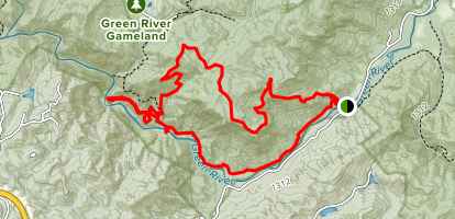 Green River and Bear Branch Loop Map