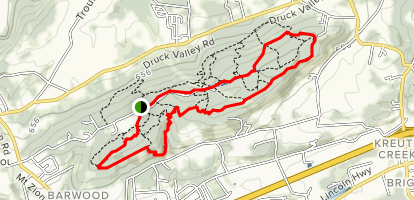 Rcoky Ridge Trail 5 to Trail 2 to Trail 1 Loop Map
