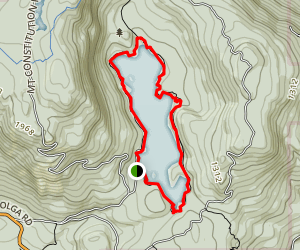 Mountain Lake Map