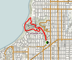 Carkeek Park via Pipers Creek Trail Map