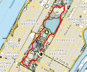 East Drive, 102nd Street Cutoff and West Drive Loop Map