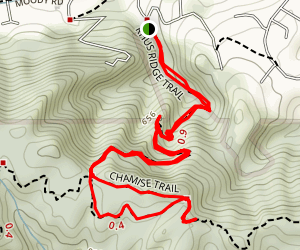 Rhus Ridge to Mary Davey and Chamise Loop Trail Map
