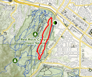 Lion Trail and Hogback Valley Loop from Parking Lot 3 Map