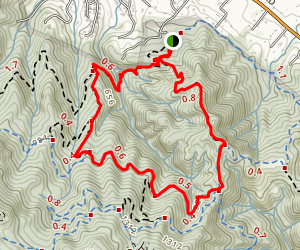 Hacienda, Randol, and Buena Vista Trail Loop Map