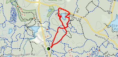 Berry Pond via Heart Healthy Trail Map