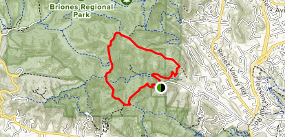 Springhill, Lafayette Ridge, Briones Crest and Sunrise Loop Map