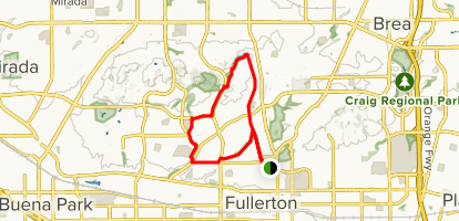 Hiltscher Park Trail to Juanita Cooke Trail Loop Map