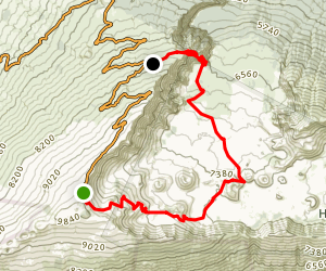Haleakala Crater Trail Map