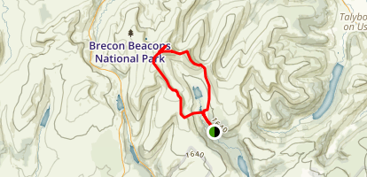 Pen Y Fan Loop Map