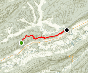 Appalachian Trail: Kimberling Creek to Jenny Knob Map