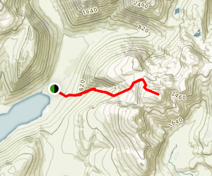 Scafell Pike via Lake Head Car Park Map