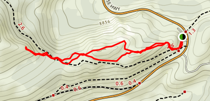 Tamarack Peak Map