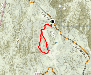 Big Laguna and Sunset Trail Loop Map