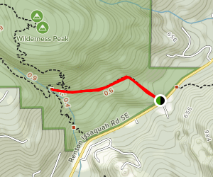 Squak Mountain Connector Trail to Wilderness Creek Map