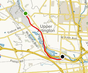 Woodlands Scioto Paddle Map