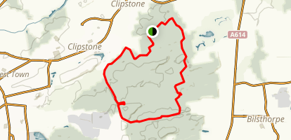Sherwood Pines Blue Route Map