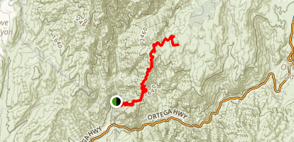 San Juan Trail to Sugarloaf Peak Map