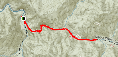 Lynn Camp Via Middle Prong Trail Map