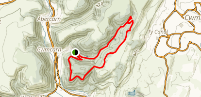 Cwmcarn Mountain Bike Loop Map