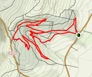 Ballinastoe Mountain Bike Loop Map