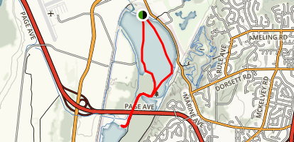 Creve Couer Lake Paddle Map