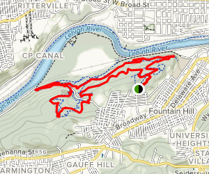 Red And Blue Trail Loop Map