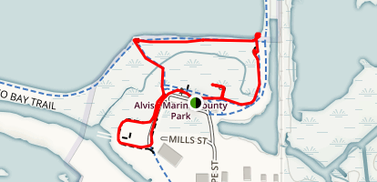 Alviso Marina Loop Map