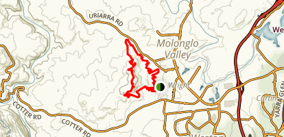 Stromlo Forest Long Loop Map