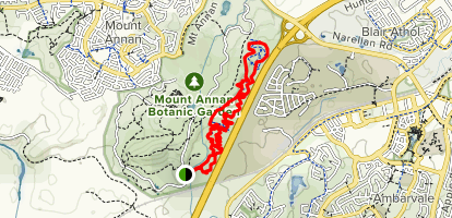 Mount Annan Mountain Bike Loop Map