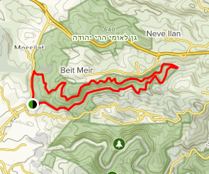 Nahal Kisalon- Israeli National Trail and Northern Route Map