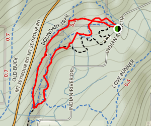 Boundary Trail and Figure Eight Loop  Map