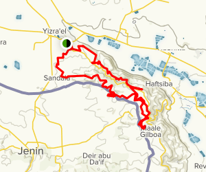 Gilboa Peak Loop Map