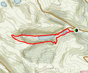 Glendalough 'White' Route from Visitor Center Map