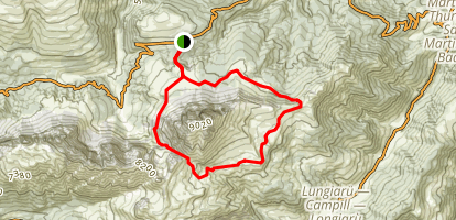 Peitlerkofel Around Sass Putia Map